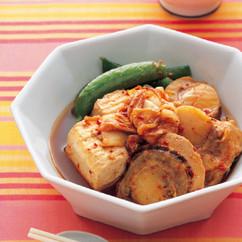 帆立てと豆腐のキムチ煮