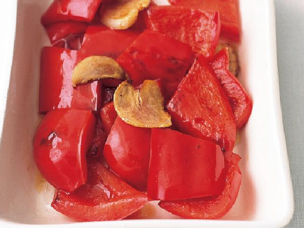 赤ピーマンのガーリックオイル
