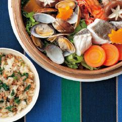 青菜とひき肉の混ぜご飯