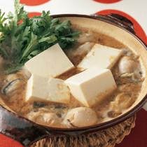 豆腐とかきの土鍋煮