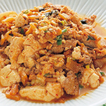 豆腐のキムチ炒め