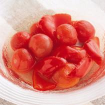 プチトマトと赤ピーマンの甘酢漬け