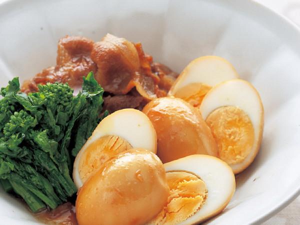 ゆで卵と豚肉の甘辛煮