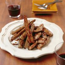 ごぼうと鶏肉のバルサミコソテー