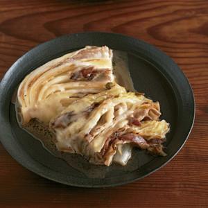 白菜と豚バラのとろとろチーズ焼き