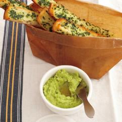 パセリトースト&そら豆ディップ