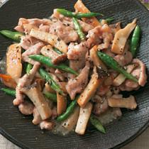エリンギと鶏肉の塩とろみ炒め