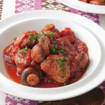 マッシュルームとミートボールのトマト煮