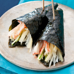 韓国風野菜のり巻き