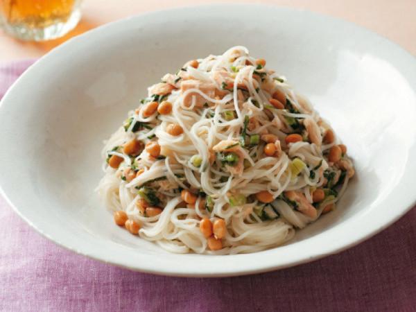 納豆と高菜の和風めん
