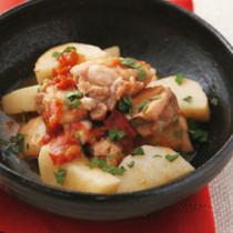 鶏肉と長いもの梅煮