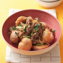 牛肉と里いもの韓国風煮