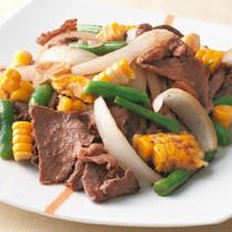 牛肉とコーンのバターしょうゆ炒め