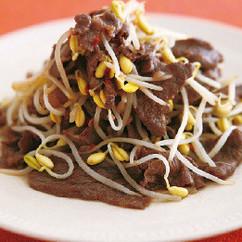 牛肉と豆もやしのエスニック炒め