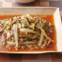白菜の中華風そぼろ煮