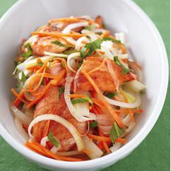 鮭と香味野菜のマリネサラダ