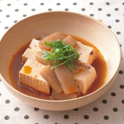 豆腐とこんにゃくのピリ辛煮