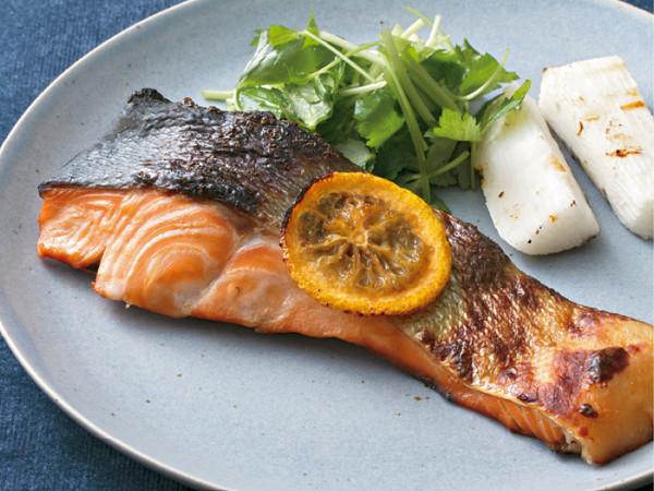 鮭の柚庵焼き