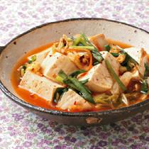 豆腐とにらのスンドゥブ風