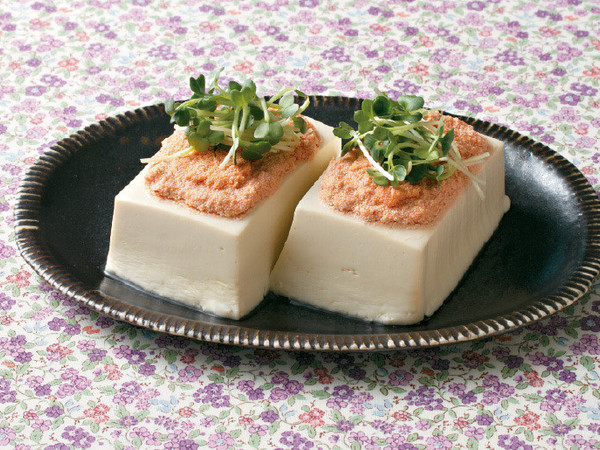 明太蒸し豆腐