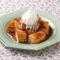 焼き豆腐のオイスターソース炒め