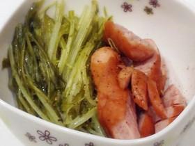 ローリエ☆水菜とウインナーの簡単煮込み