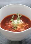 イタリア風☆トマトと黒オリーブのスープ