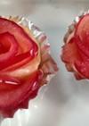 赤いバラのアップルパイ