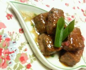 牛サイコロステーキ☆ワサビ醤油バター焼き
