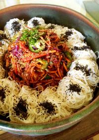 韓国風☆海鮮そうめんサラダ