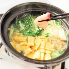 鶏味塩 de 鰤(ブリ)のしゃぶしゃぶ鍋