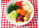 けみアミ美夕の簡単フライパンで蒸し野菜!