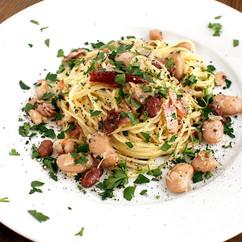 豆とベーコンのアーリオオーリオ