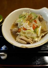 温まる★根菜・豚白もつ煮込み味噌♪圧力鍋