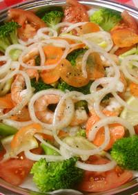 めっけもん♪野菜たっぷりカルパッチョ