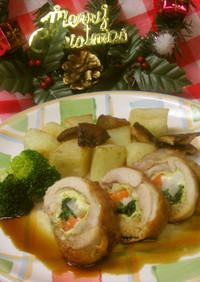 めっけもん♪冬野菜の鶏肉巻き