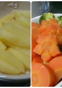 煮林檎とほんのり甘い人参とブロッコリー