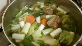 豚バラ肉とたっぷり根菜の和♪ポトフ