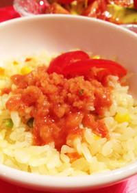 超簡単冷たいトマトスープジュレ☆のせピラ