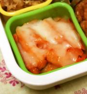 レンジで時短!冷凍ポテトのピザ☆お弁当にの写真