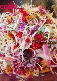 紫白菜とシラスとキャベツの彩サラダ