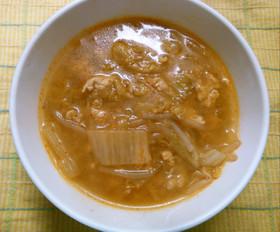 挽き肉 白菜 もやし ピリ辛味噌スープ!