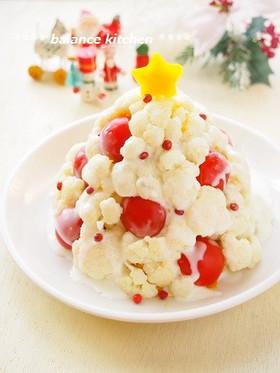 ホワイトクリスマスツリーのかぼちゃサラダ