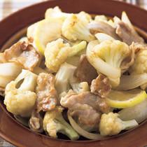 豚肉とカリフラワーのレモン炒め