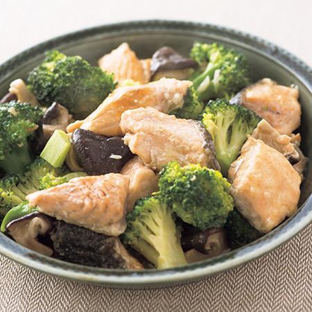 鮭とブロッコリーのうま煮