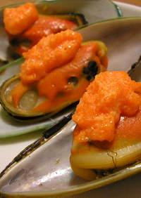 ムール貝とマサゴ蒸し