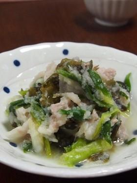 レンジde豚肉とわかめのおろし煮