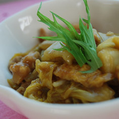 簡単 白菜と豚肉のカレー煮