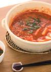 小松菜と豆腐のチゲ鍋 トマトジュース入り