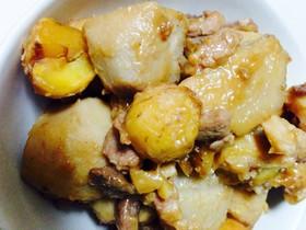 里芋と栗の煮っころがし